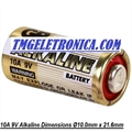 10A - BATERIA GP10A 9 VOLTS, High Voltage alkaline batteries 9V, Ø10mm x Altura 21.6mm