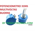 POTENCIOMETRO MULTI VOLTAS,10VOLTAS LINEAR, POTENTIOMETER PRECISION Model 3590S, 10-turn precision - 1K Á 100K