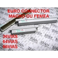 CONECTOR DIN 41612 EURO MALE/FEMALE,Connector DIN 41612 Macho ou Femea 3Vias/Fileiras X 16Pinos = 48Pinos Angulo 180°