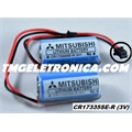 CR17335SE-R 3Volts - BATERIA LITHIUM 3V MITSUBISHI CR17335SE-R, BACK-UP, PLC,CNC,ROBOT, MACHINE COM FIO E CONECTOR