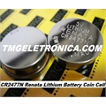 CR2477N RENATA - BATERIA 3V 950mAh LITHIUM, Renata CR2477N Coin Cell Battery,BOTÃO Coin & Button Cell, CNC,PLC & MACHINE
