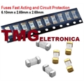 FUSIVEL SMD Ultra Rapido - Surface Mount Fuses,SMD FAST ACTING 6,1X 2,69Mm - Varios Amperes