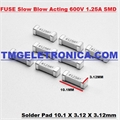 FUSIVEL SMD COM RETARDO - Surface Mount Fuses,SMD Slow Blow 600VAC / 80VDC 10.1 X 3.12 X 3.12mm  - Varios Amperes