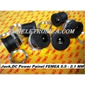 JACK P4 FEMEA PAINEL REDONDO 5,5Mm x 2,1Mm ,Female DC Power jack,Panel Mount 22Mm x 5.5Mm - 2.1Mm