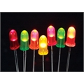 LED 5MM DIFUSO,LEITOSO PISCA / PISCA,Led Difuso 5mm, LED Diffused Round Light Emitting Diodes Lamp Colors - VÁRIAS CORES
