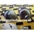 LM340K-12, 7812 - CI  Regulador de tensão +12 V, Bi-Polar 2 Pinos Metalico TO-3