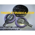 ML1220 - BATERIA LITHIUM 3V - 17MAh RECARREGAVEL,ML1220 3.0V Rechargeable Lithium Coin Cell