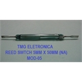 Reed Switch - 5Mm x 50Mm, Ampola de Vidro,Magnetic Control Reed Switches,GLASS Reed Switches 3Amper (SPST) Normally Open (N.O.) Contato Normal aberto (NA).