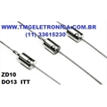 ZD10 DIODE ZENER 10V 1.3W DO-13 2PIN AXIAL