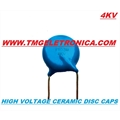 6,8KPf - 6K8 - Capacitor ceramico 4KV / 4000VOLTS Capacitors Ceramic High Voltage