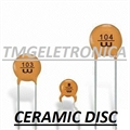 10pF - Capacitor Ceramico Disco ,Ceramic Disc Capacitors 50Volts Single layer