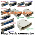 DB15 - Conector 15Vias,Solda Fio Macho OU Femea,D-Sub Connector Plug Female,Male Pins15 Position