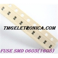 FUSIVEL SMD 0603 (Anti Pulse),SMD 1608 0,8Mm x 1,6Mm FUSE SMD,Surface Mount Protector