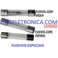 FUSIVEL COM MOLA e CHAPA 6x30MM,Fuse Cylinder Slow Blow CARTRIDGE, 6.3X32MM
