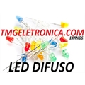 LED 3MM DIFUSO,Led Leitoso,Led Difuso 3mm, LED Diffused Round Light Emitting Diodes Lamp Colors - VÁRIAS CORES