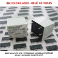 Relé 48VDC - 36.11.9.048.4001 ,RELE 48VOLTS - 48VDC Relay, 10A, 5Terminais, General Purpose Relay, 36 Series, Power SPDT,