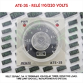Relé 110/220VAC Timer - ATE-3S, Relé 110/220V, 250VAC, 3A, ON Delay Timer, Resistive Load, Time limit SPDT(1C), Instantaneous SPST(1A) ATE-3S-110/220VAC Timer, Analog, On-Delay, 3 Seconds,  8-Pin