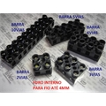 BARRA Terminal SCREW Block,Terminal Blocks Screw DE 2 até 10VIAS - PARA FIO 1,5 ATE 4Mm/10mper  BAQUELITE