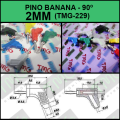PINO BANANA 2MM Angulo 90° TMG 229,Banana Plug Right Angle 90 Degree, COLORIDOS