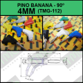 PINO BANANA 4MM Angulo 90° TMG 112,Banana Plug Right Angle 90 Degree, COLORIDOS