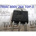 BTA26-800 - TRANSISTOR BTA26,Thyristor TRIAC 800V 26A 3-Pin TOP3 Insulated Tube