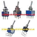 Mini Chave Liga Desliga ALAVANCA 6Pinos 90° Horizontal, Interruptor Ângulo 90º Horizontal Toggle - On-Off - Pcb 2 Posições 6 Pinos