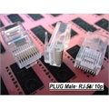 CONECTOR RJ50 - Modular Plug RJ50 (10x10), Macho Transparente Modular Plug Male RJ50, RJ45 10VIAS, PLUG RJ50 10 Contacts Connector Telephone and Telecom