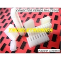 CONECTOR KK FEMEA, CONECTOR PCB KK Female, Connector Housing, KK Series, Receptacle, from 2 to 20 Positions,PASSO 3,96mm - DE 2 Á 20vias