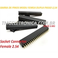 CONECTOR MODU 80Vias DUPLO 2X40Vias Femea - socket+housing 2.54mm