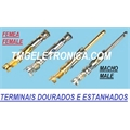 TERMINAL MACHO DOURADO - PARA CONECTOR CIRCULAR/MALE, Pin & Socket Connectors Contact, male GOLD 16-18 AWG