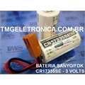 CR17335SE - BATERIA LITHIUM 3V SANYO,FDK FIO E CONECTOR BACK-UP, PLC,CNC,ROBOT, MACHINE
