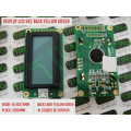 DISPLAY LCD 8 X 2 - Display LCD com Backlight Alphanumeric Yellow-Green 8 Caracteres por 2 Linhas - 16 CONTATOS