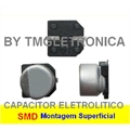 82UF SMD - CAPACITOR ELETROLITICO EM SMD,Aluminum Capacitors SMD (Chip), Surface 2,5V Á 100VOLTS