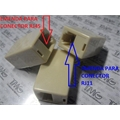EMENDA PARA CONECTOR RJ11 Telefonia OU RJ45 Modem Ethernet - FEMEA-FEMEA, Adapter RJ11 to RJ11 & RJ45 to RJ45(Female to Female)