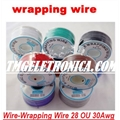 Fio Wire Wrap 28AWG ou 30AWG VENDIDO POR METRO - Prototyping & Repair Wire Cables Wires Wire Wrap 28AWG OU 30AWG Wire Wrapping Cable Wrap Color Insulated VERDE ou VERMELHO