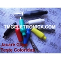GARRA JACARE 10AMP, 25MM - Alligator Test Leads,Clips Cable Alligator,COLORIDAS