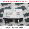 Relé 24VDC - HF41F-24-ZS(555), 24VOLTS - Relê 24V, 6A, 1 Form C, AgNi,  PCB Mount Subminiature Power Relay
