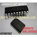 HT48F06E - HOLTEK - I/O Flash Type MCU with EEPROM DIP 18PIN,HT48F