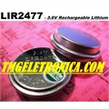LIR2477 - BATERIA RECARREGAVEL Lithium-ion 3,6V - 150MAh, LIR2477 - Coin Cell Battery Rechargeable Backup Battery