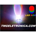 LED 5MM RGB - Alto Brilho TRICOLOR ,Led Cristal Transparente,Led Alto Brilho 5mm,Light Emitting Diodes Lamp Colors - 2 TERMINAIS