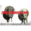MS412FE - BATERIA RECARREGAVEL 3V 1mAh, Seiko Instruments Micro Battery Rechargeable Button Coin Cell