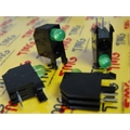Porta LED, Suporte de LED 5MM INDICADOR VERDE (PCI),HOLDER Green Right Angle PCB LED Indicator, Through Hole