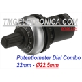 POTENCIOMETRO DIAL COMBO PRECISÃO, M22R - Precision Potentiometers Dial Level Scale Combo IP66