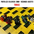 Porta LED, Suporte de LED 3MM - REDONDO Panel mount LED holder LED ACRYLIC TMG82/VÁRIOS