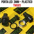 Porta LED, Suporte de LED 3MM - REDONDO Panel mount LED holder LED PLASTIC TMG85