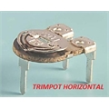 Trimpot 10Mm Horizontal, Mini Trimpot Potenciometro de Carvão Ø 10 - Variable Trimmer Potentiometer Horizontal 3pinos - 100R até 10MEGA