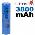 LC18650 - BATERIA 3,7V 3800mAh Li-ion Rechargeable