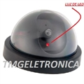 Câmera Falsa Mini-Dome Com Led Piscante CFTV - 3VOLTS