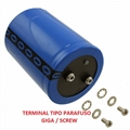 470UF - Capacitor Eletrolítico Industrial 470UF, 470µF, 470MF - Giga,Terminal parafusos, Screw Mount, Lista de 50 até 500Volts, Aluminum Electrolytic Screw - Aluminum Electrolytic Screw - Max.Temp 85°