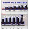CHAVE TACT 9,5Mm -  6MmX6MmX9,5Mm 4 pinos - Tact Switches